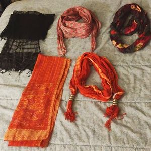 Scarves! Great for summer, spring, or fall